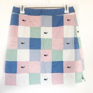 Vineyard Vines Searsucker Patterned Skirt Size 8